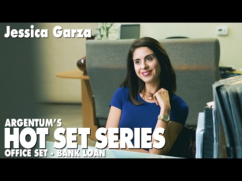 Hot Set Series - Office Set - Business Loan - with actor Jessica Garza