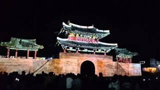 전주한옥마을 풍남문광장 전주국제영화제 기념 미디어파사드쇼