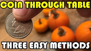 Coin Through Table (3 easy methods)