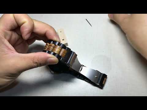 How To Adjust / Remove Links From a Wooden Watch Strap