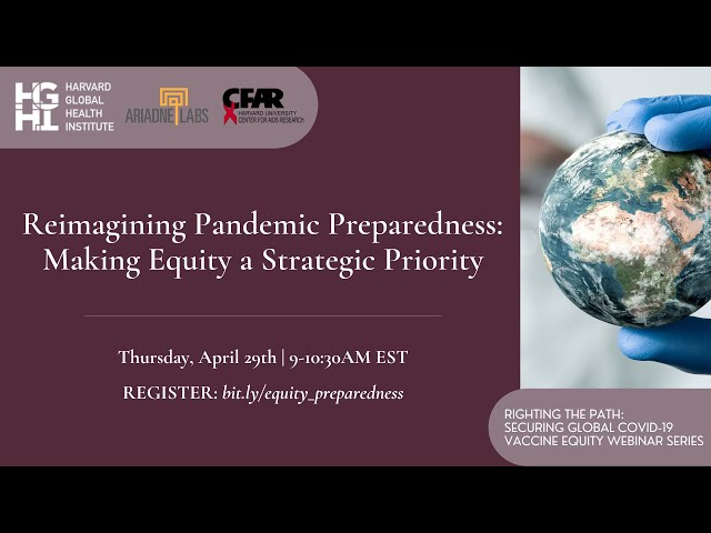 Reimagining Pandemic Preparedness: Making Equity a Strategic Priority
