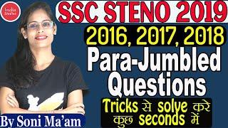 SSC STENO 2019 English    Para Jumbled Questions   PQRS   STENO English