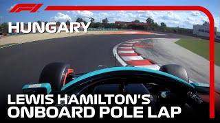 Lewis Hamilton's Onboard Pole Lap | 2021 Hungarian Grand Prix | Pirelli