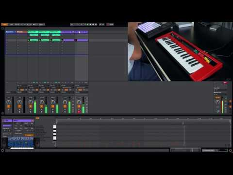 Demo Track: Making a beat in Ableton Live with Yamaha Reface YC Organ Synth