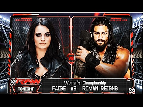 WWE 2K16 - Roman Reigns vs Paige - Women's Championship Match