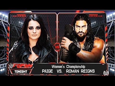 WWE 2K16 - Roman Reigns vs Paige - Women's...