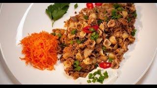 Ракушки по-флотски со сметанным соусом | Мясо. От филе до фарша