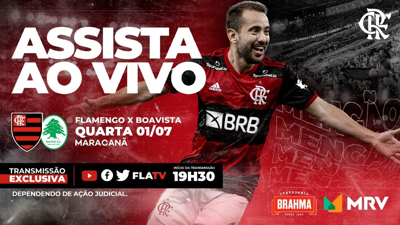 Flamengo x Boavista Ao Vivo - Taça Rio