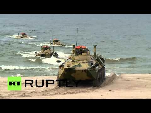Russia: Watch Baltic Fleet drills blitz Kaliningrad beach