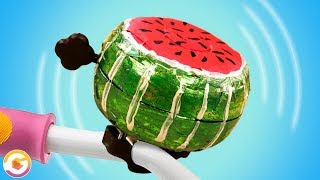 DIY Watermelon Bicycle Bell Summer Hack!