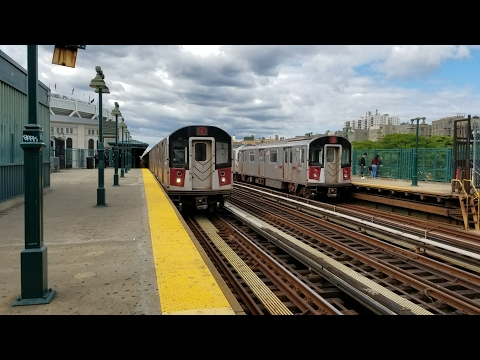 IRT Jerome Avenue Line: Rush hour 4 line action @ Yankee Stadium-161 St. (6/7/17)
