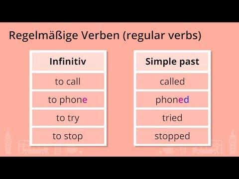 Regelmäßige und unregelmäßige Verben - Grundlagen: Englisch - 1 ...