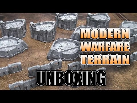 Pre-Painted Modern Warfare Terrain Set - Unboxing
