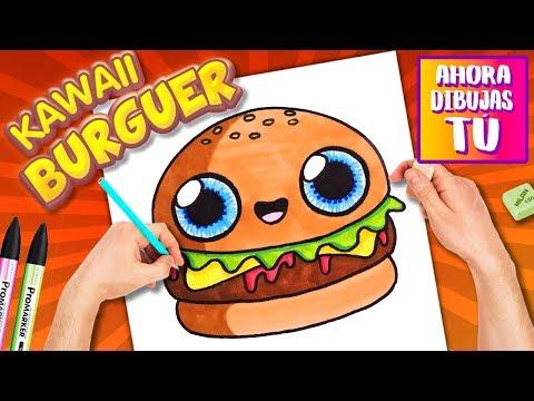 Como Dibujar Una Hamburguesa Kawaii Dibujos Kawaii Youtube