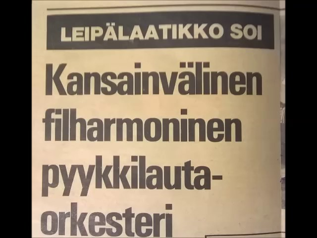 International Philharmonic Washboard Orchestra live at Salhojankadun pub 1978