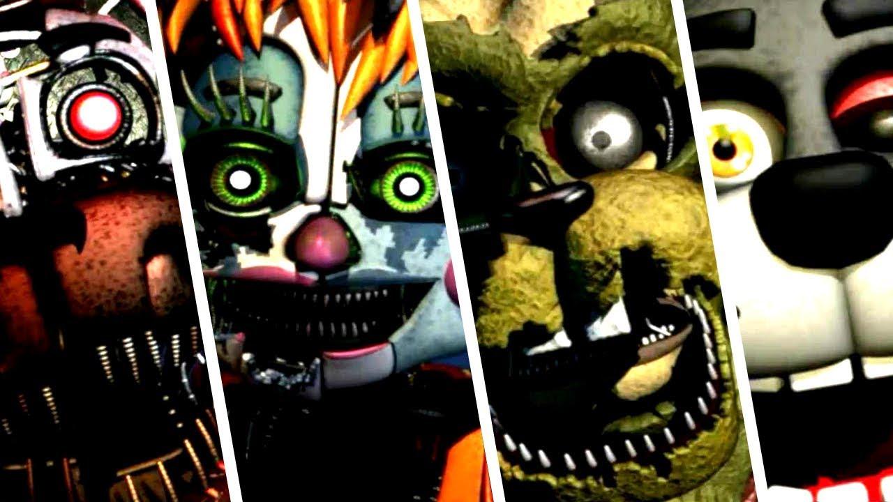 ALL FNAF 6 JUMPSCARES | Five Nights at Freddy's 6 (Freddy Fazbear's  Pizzeria Simulator)