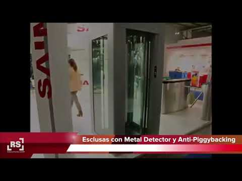 SAIMA | Esclusas de seguridad detector de metal y armas. Acceso individual | RSeguridad