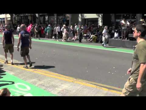 Fremont Solstice Parade ~ Nude cyclists