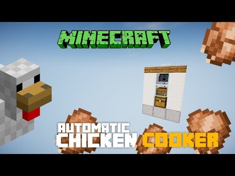 Minecraft 1132 Chicken Cooker Fully Automatic Lossless Compact