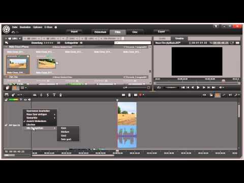 Spuren auf der Timeline von Pinnacle Studio 16 und 17 Video 37 von 114