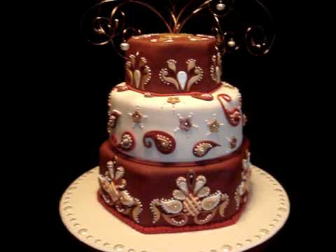 Indian Theme  IndiaInspired Fondant Cake  YouTube