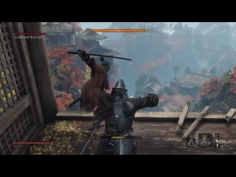 Sekiro Shadows Die Twice: Armoured Warrior Mandatory Mini-Boss Fight (Japanese)