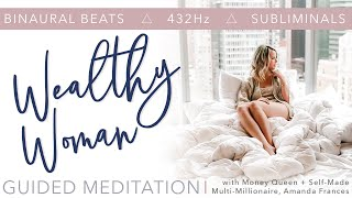 BEST Guided Meditation to Manifest Money for Women 💵 Affirmations 🎧 Binaural Beats 👑 Subliminals