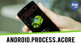 Resolver ERRO android.process.acore PAROU