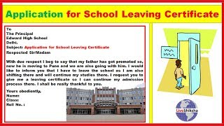 Sample request letter for school leaving certificate video how to write an application to the principal for school leaving certificate yadclub Images