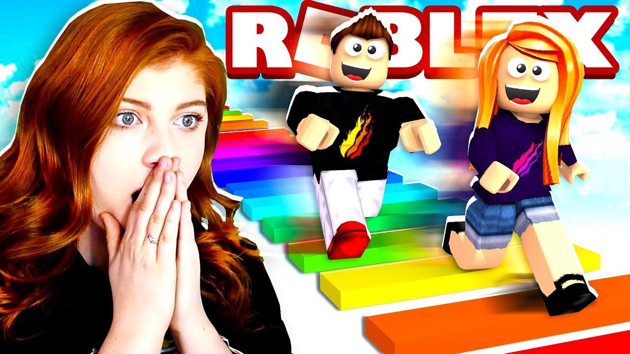 Roblox 1v1 Rainbow Obby Vs Prestonplayz Youtube