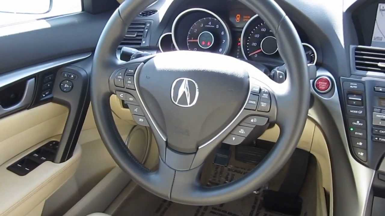 hight resolution of 2010 acura tl white stock h2076 interior