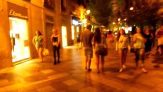 アキーラさん夜の散策①スペイン・マドリッド・プエルタ・デル・ソル近くアレナル通り!Near Puerta-del-Sol,Madrid,Spain