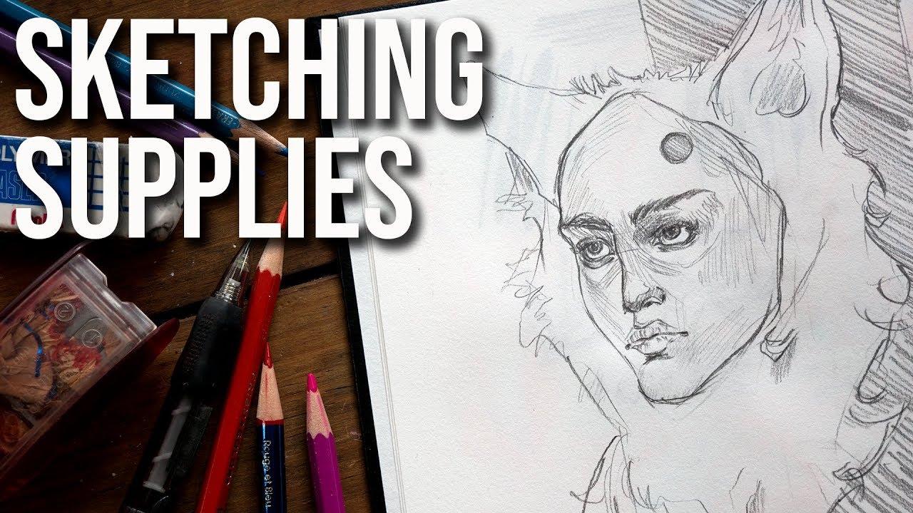 My favorite sketching supplies pencils and sketchbooks