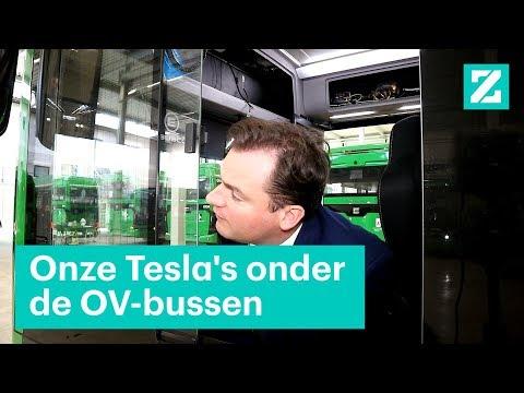 De Tesla's onder de OV-bussen komen uit Brabant