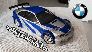 BMW M3 GTR 1/18 Miniature Need For Speed Most Wanted Build