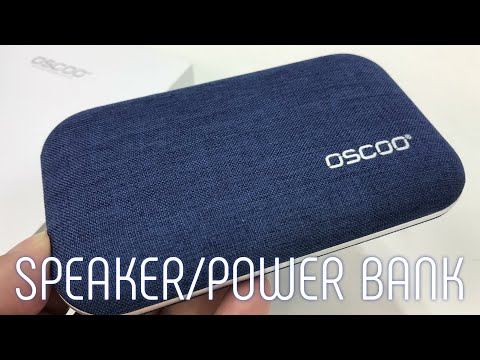 Portable Wireless Denim Bluetooth Speakers with 4000mAh Power Bank by Oscoo Review