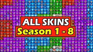 *ALL* SKINS in FORTNITE BATTLE ROYALE (SEASON 1 - 8) *SHOWCASE*