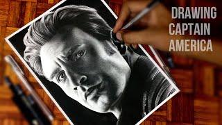 Drawing Captain America End game #endgame#captainamerica#AVENGERSENDGAME
