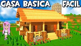 Casa Básica Pequeña y Fácil para Survival en Minecraft 🏡Tutorial