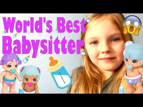KAIA gets a BABYSITTING JOB! SAVING the BIZZY BUBS! The TOYTASTIC Sisters. FUNNY SKIT