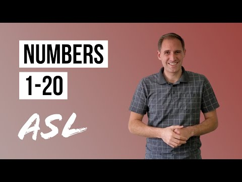 ASL Basics | Learn How to Sign Numbers 1-20 in American Sign Language