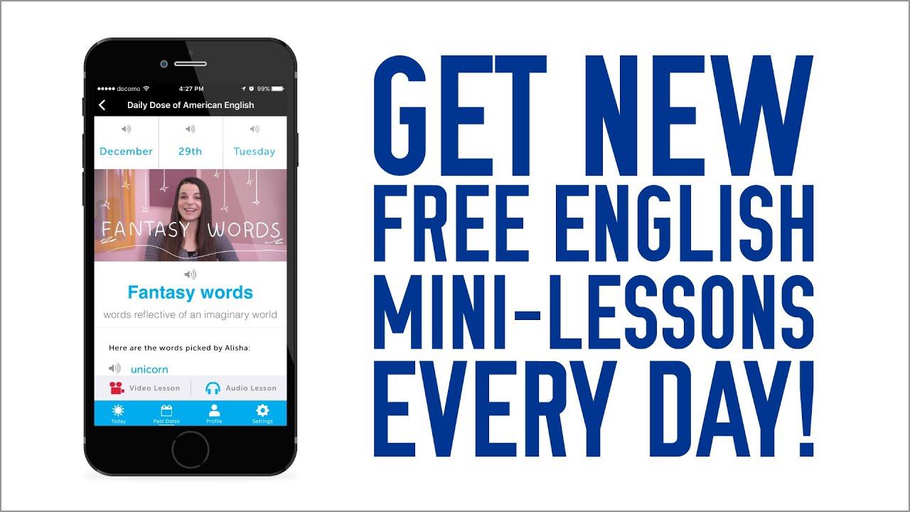ミニ英語レッスンが毎日届く 英語学習アプリをゲットしよう!