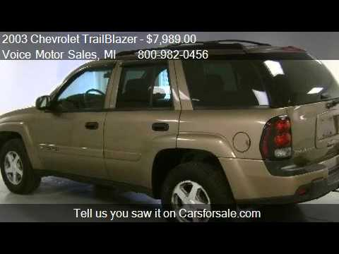 2003 chevrolet trailblazer lt 4x4 for sale in kalkaska for Voice motors kalkaska michigan