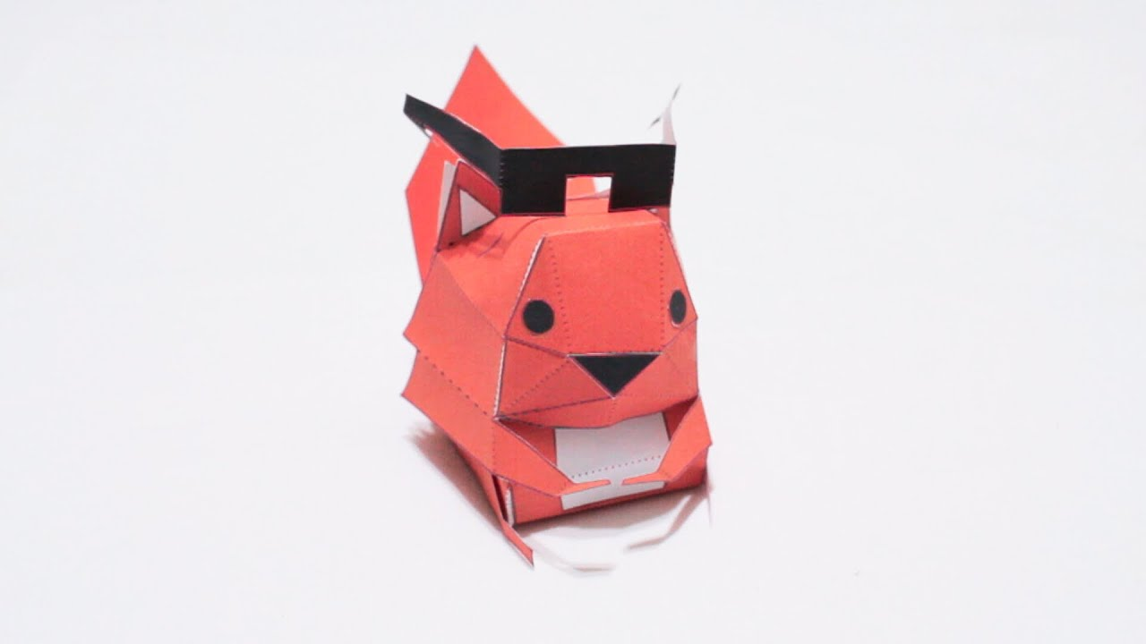 Papercraft Tearaway Papercraft Squirrel MUST WATCH!!
