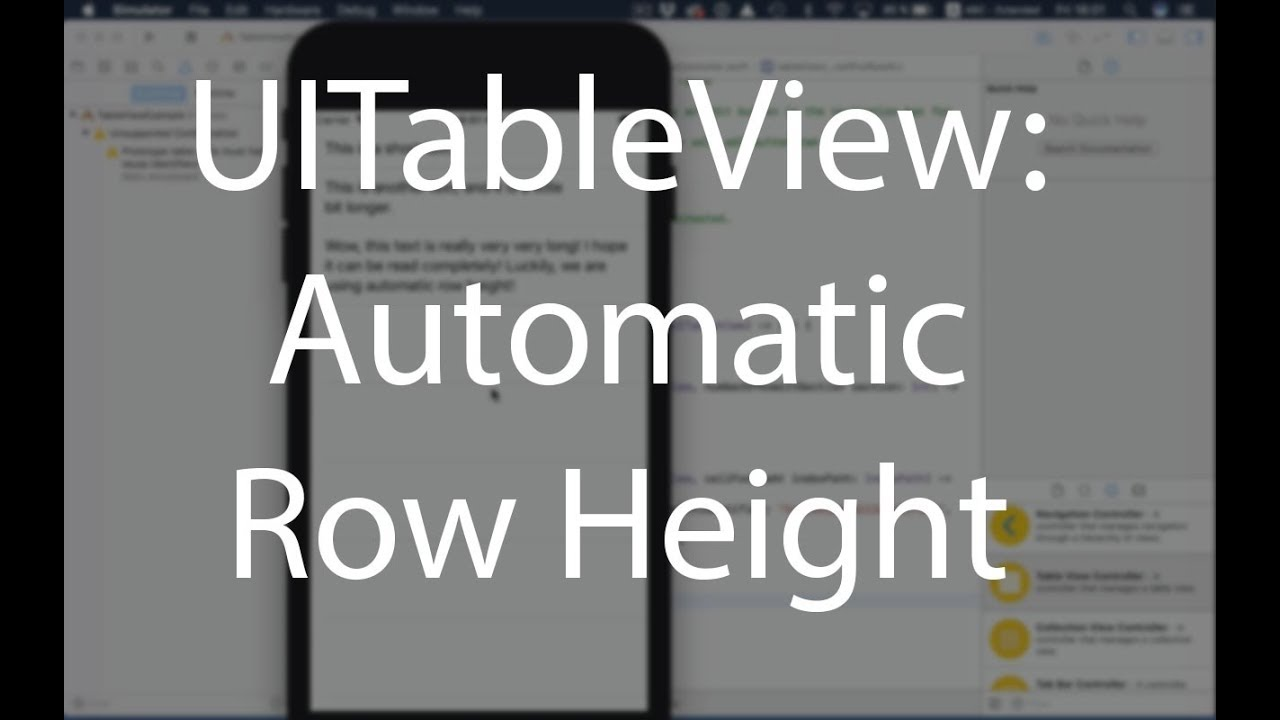 UITableView - Automatic Row Height (Xcode 9, iOS 11)