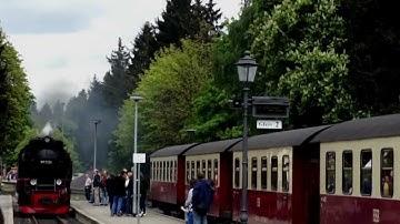 Drei Annen Hohne - Aktivitäten auf dem Bahnhof - Harzer Schmalspurbahn - Brockenbahn - Harzquerbahn