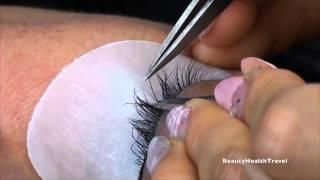Individual Eyelash Extensions application