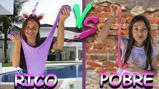 RICO VS POBRE FAZENDO AMOEBA / SLIME | Biankinha