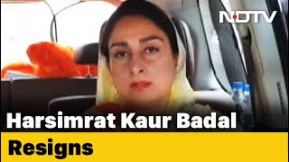 Union Minister Harsimrat Badal Quits Over Centres New Bills For Farmers