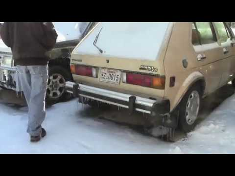 vw rabbit diesel cold start youtube. Black Bedroom Furniture Sets. Home Design Ideas